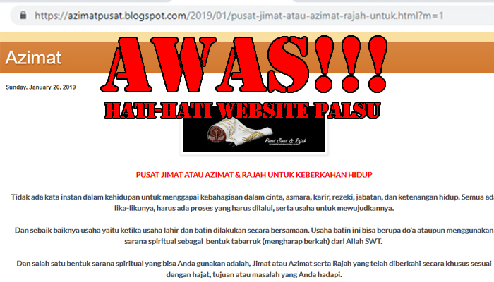 website penipu